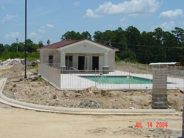 Pool and Pool House July 2004